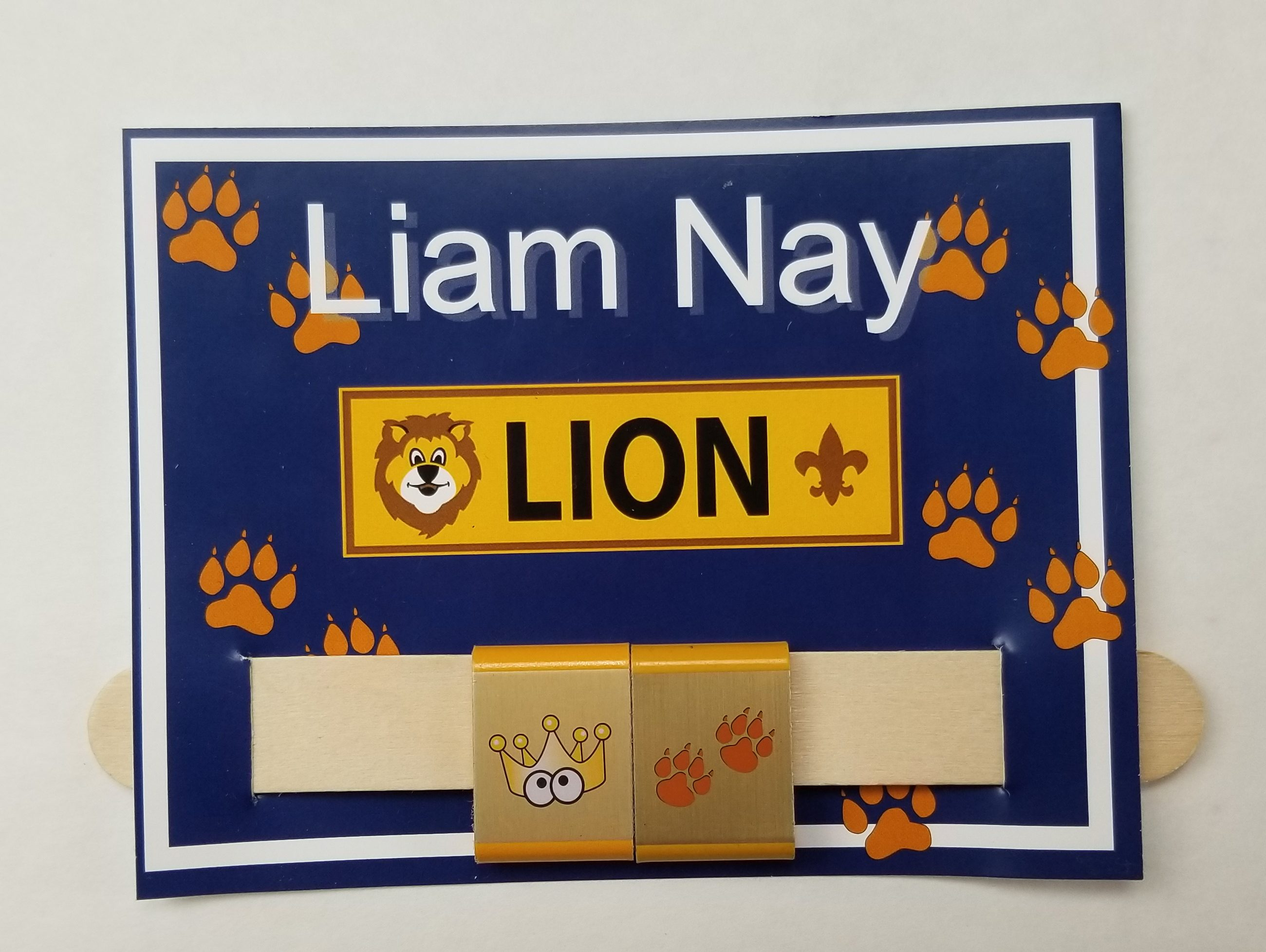 Cub Scout Lion Belt Loop Award holder