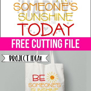 Be Someone's Sunshine Today FREE SVG Cut File