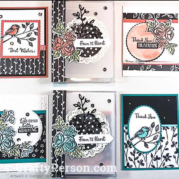 JH10-Petal Palette Card Set with Decorated Acetate Box