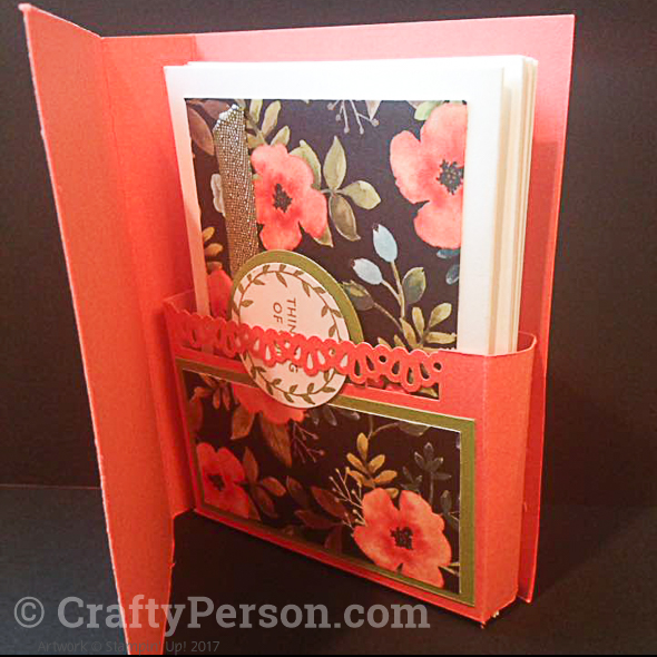 Note Card Holder with 4 Cards