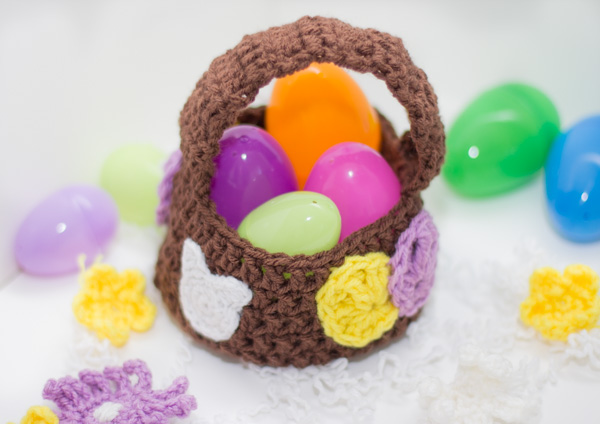 Free Crochet Pattern easter basket