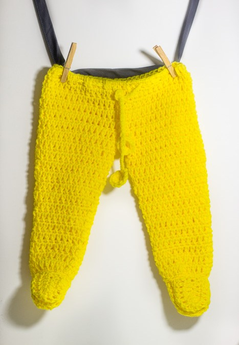 Crochet footed baby pants