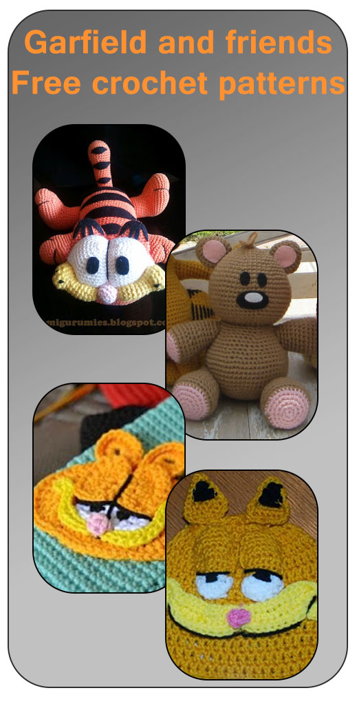 Garfield free crochet patterns