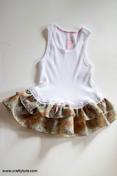 transform a baby onesie to a baby dress tutorial
