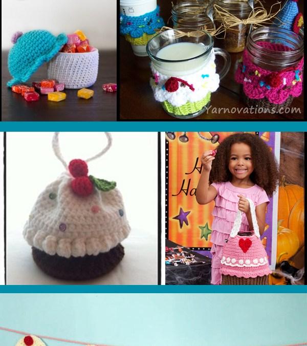 Crochet and amigurumi cupcakes