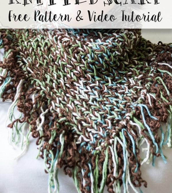 Dark Forest Knitted Scarf – Free Pattern & Video Tutorial