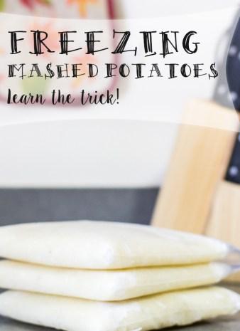 Freezing mashed potatoes