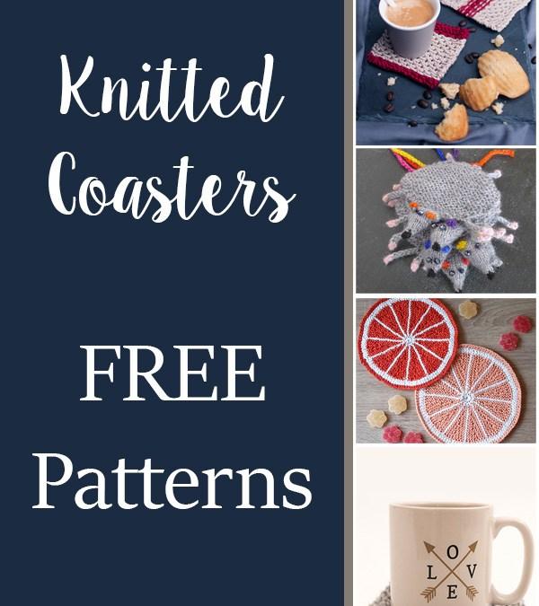 10 FREE Knitting Coaster Patterns