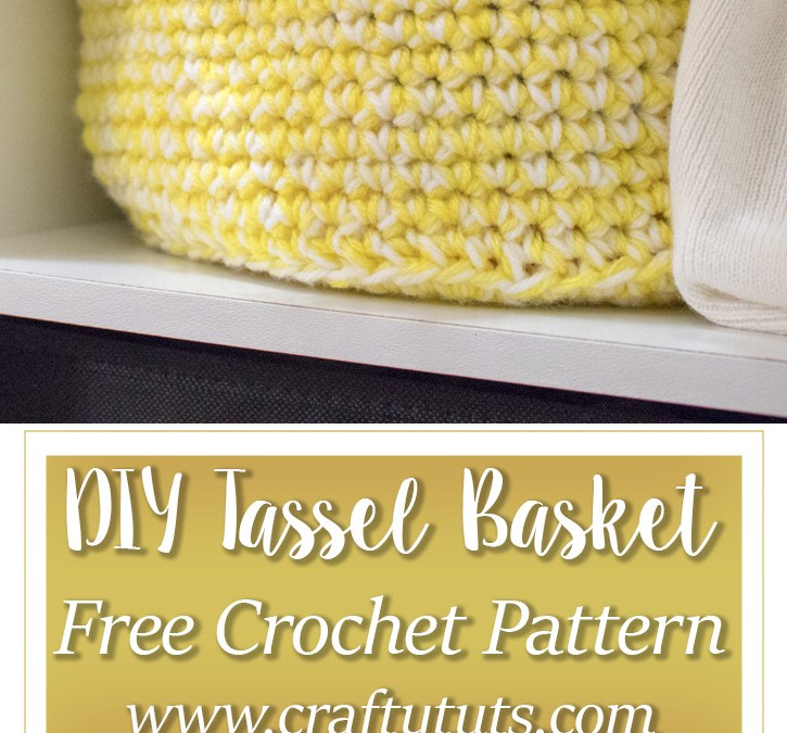 DIY Crochet Tassel Basket Free Pattern