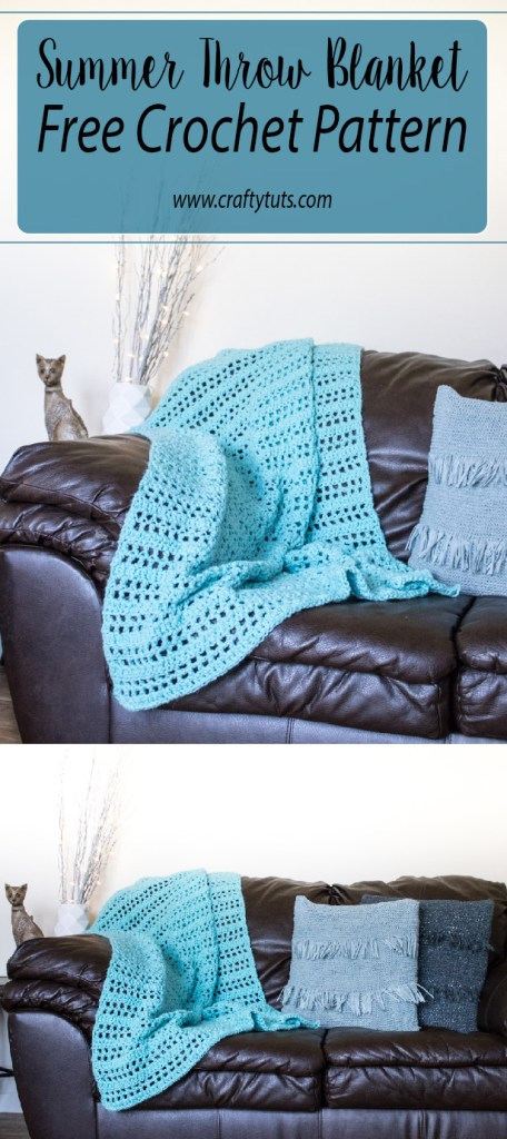 Summer throw blanket free crochet pattern