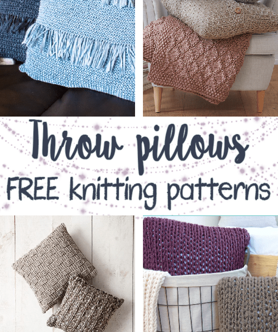 Free knitting patterns for throw pillows