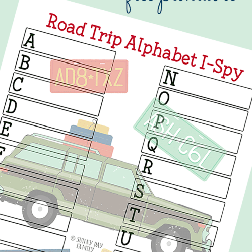 Alphabet Road Trip I Spy Printable