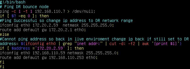 Linux Re-IP script - bash view