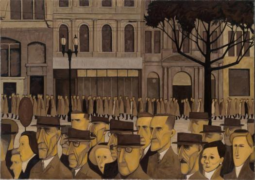 Australian Modernism on the move! Collins St, 5p.m. 1955, John BRACK