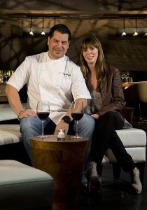 Celeste and Chef Todd Miller from STK at the Gansevoort