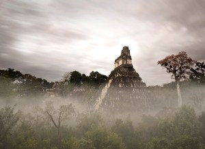 Tikal Templo I after rain, by professional photography Craig Denis
