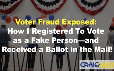 Voter Fraud Exposed: How I Registered To Vote as a Fake Person—and Received a Ballot in the Mail!