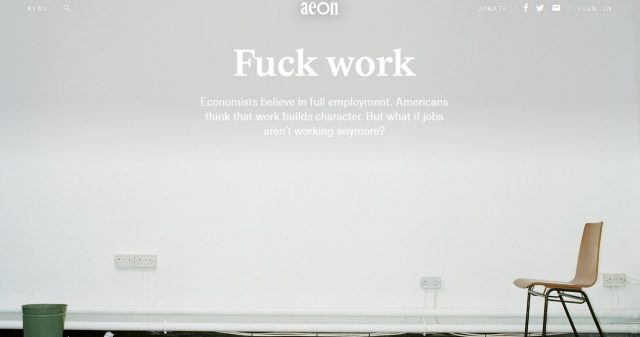 "image with text ""Fuck Work"""