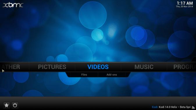 XBMC Home Screen