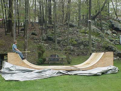 your average teens homemade skatepark.
