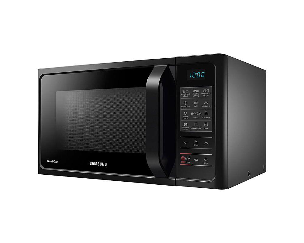 samsung mc28h5013ak black 28l combination microwave