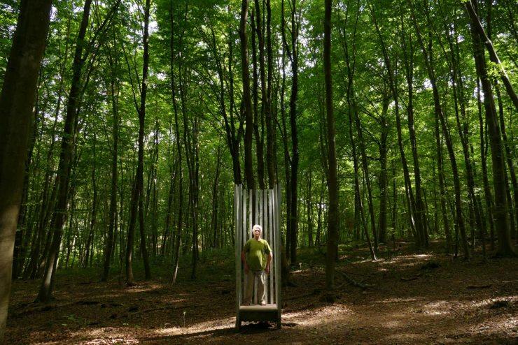 LISTENING N°1, ZEITRAFFER, Waldkunstpfad, Darmstadt, Allemagne © Moritz Dornauf 2017