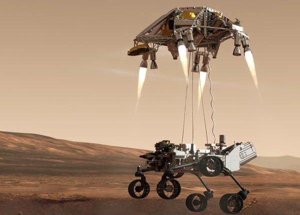 Sky Cranes Mars landing a success Cranesy