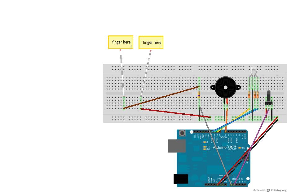Gamer Lie Detector Circuit Diagram