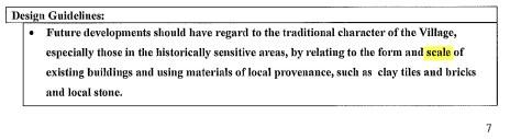 Cranleigh Design Statement 2008 point  re scale