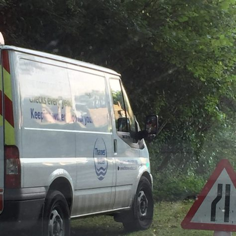 Thames water Van on Barhatch Lane