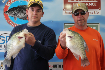400 Austin McDaniels and Sammy Hill with a 7fish limit weighing 18 98 1st Place Tournament