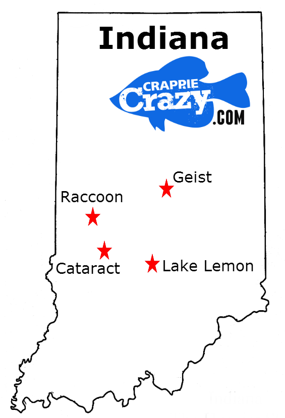 In state finished crappie crazy crappie fishing for Indiana lifetime fishing license