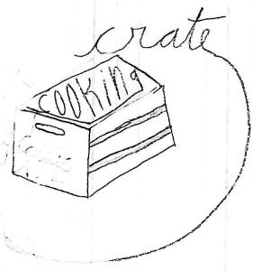 crate cooking logo nyc kitchen recipes simple basic seasonal cooking