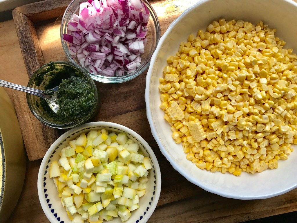 Crate Cooking Summer Simple Seasonal Recipes Corn Soup Charred Easy Ingredients Jalapeno Pesto