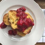 RASPBERRIES AND CREAM FRENCH TOAST