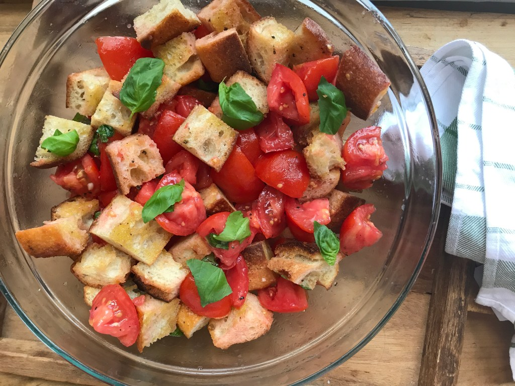 Crate Cooking Summer Easy Basic Simple Recipes Ingredients Seasonal Ribs Zucchini Corn Tomato Panzanella