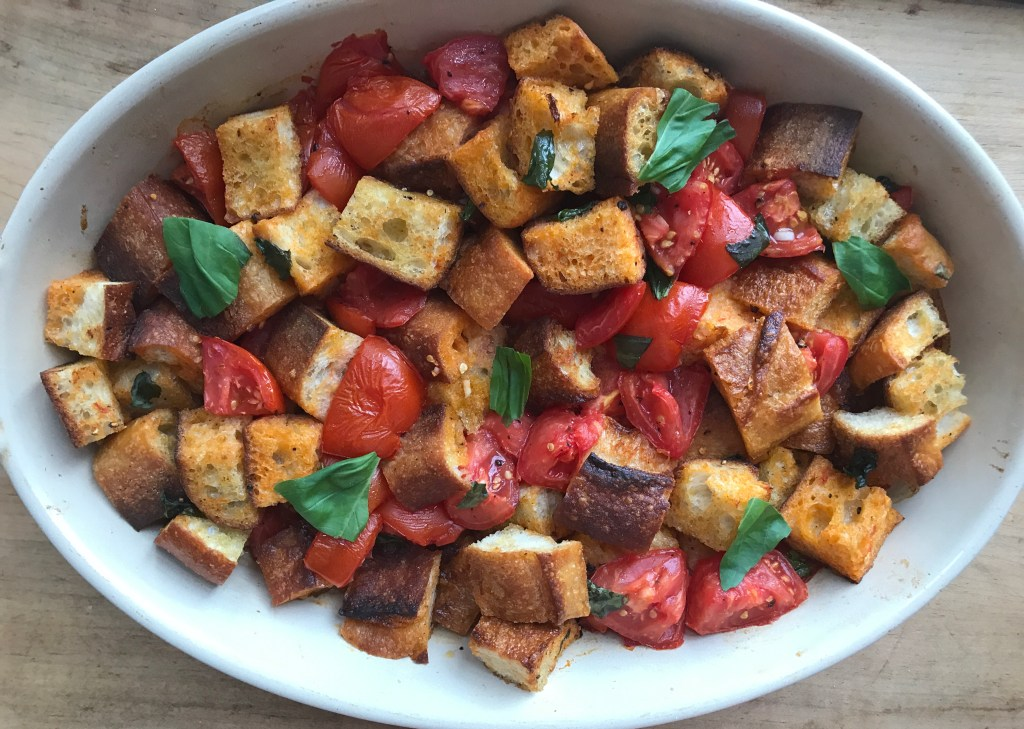 Crate cooking summer simple ingredients 3 way recipes scalloped tomatoes basil