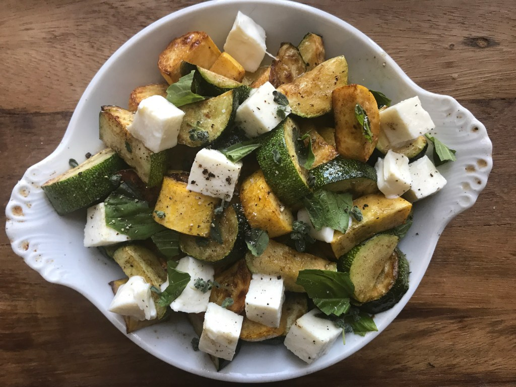 Crate Cooking Summer Easy Basic Simple Recipes Ingredients Seasonal zucchini saute mozzarella