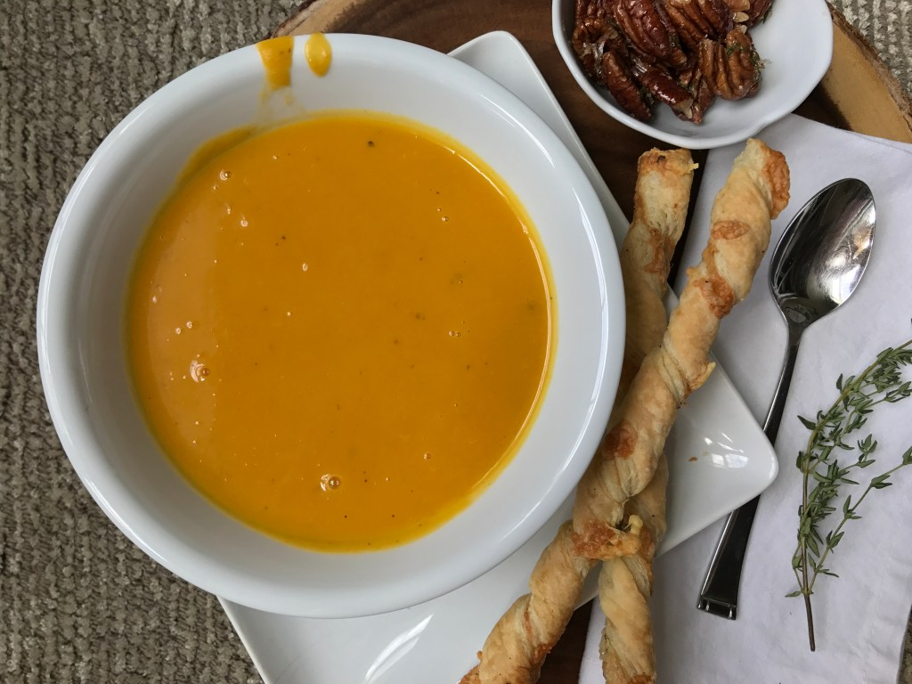 Crate Cooking Fall Autumn appetizers Easy Basic Simple Recipes Ingredients Seasonal Winter Harvest Squash Soup