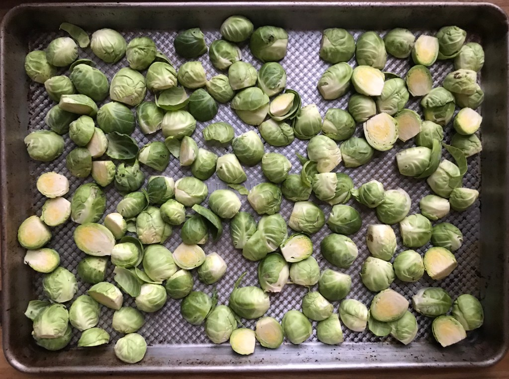 Crate Cooking Fall Autumn Easy Basic Simple Recipes Ingredients Thanksgiving Holidays roasted gremolata brussels sprouts sides