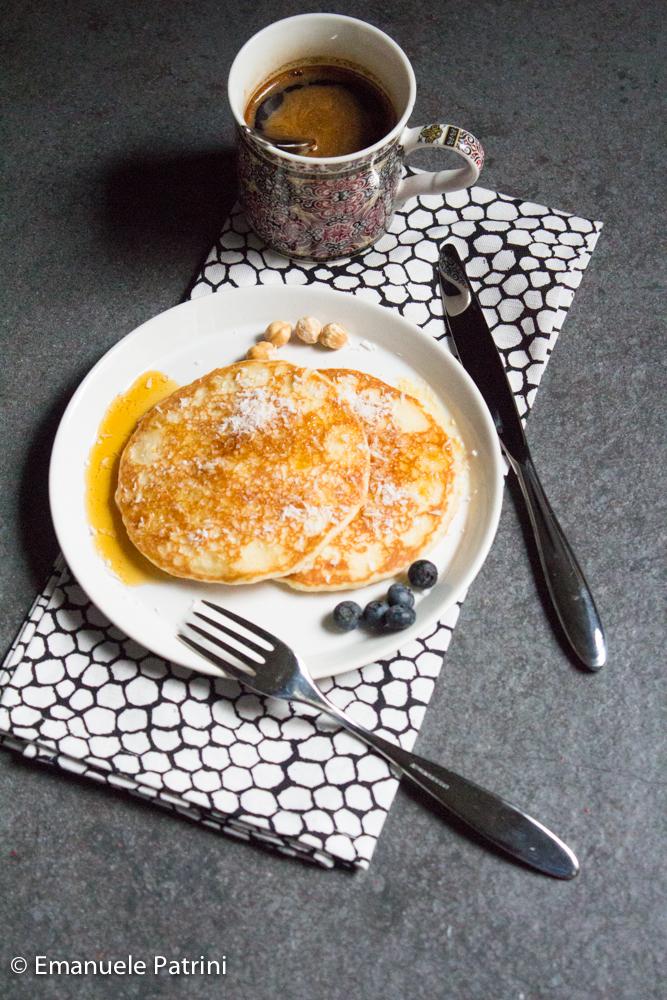 Ricetta Pancake Benedetta Rossi.Pancake Proteici Al Cocco Ricetta Cravatte Ai Fornelli