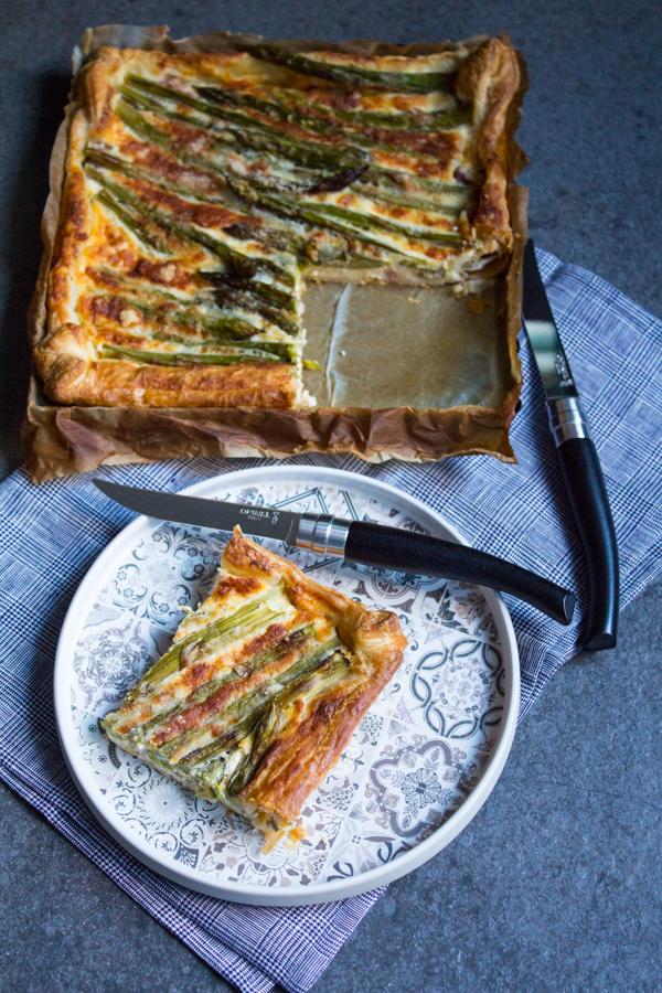 Ricetta per Torta salta asparagi e pancetta