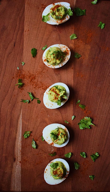Light & Healthy Appetizer: Avocado Deviled Eggs