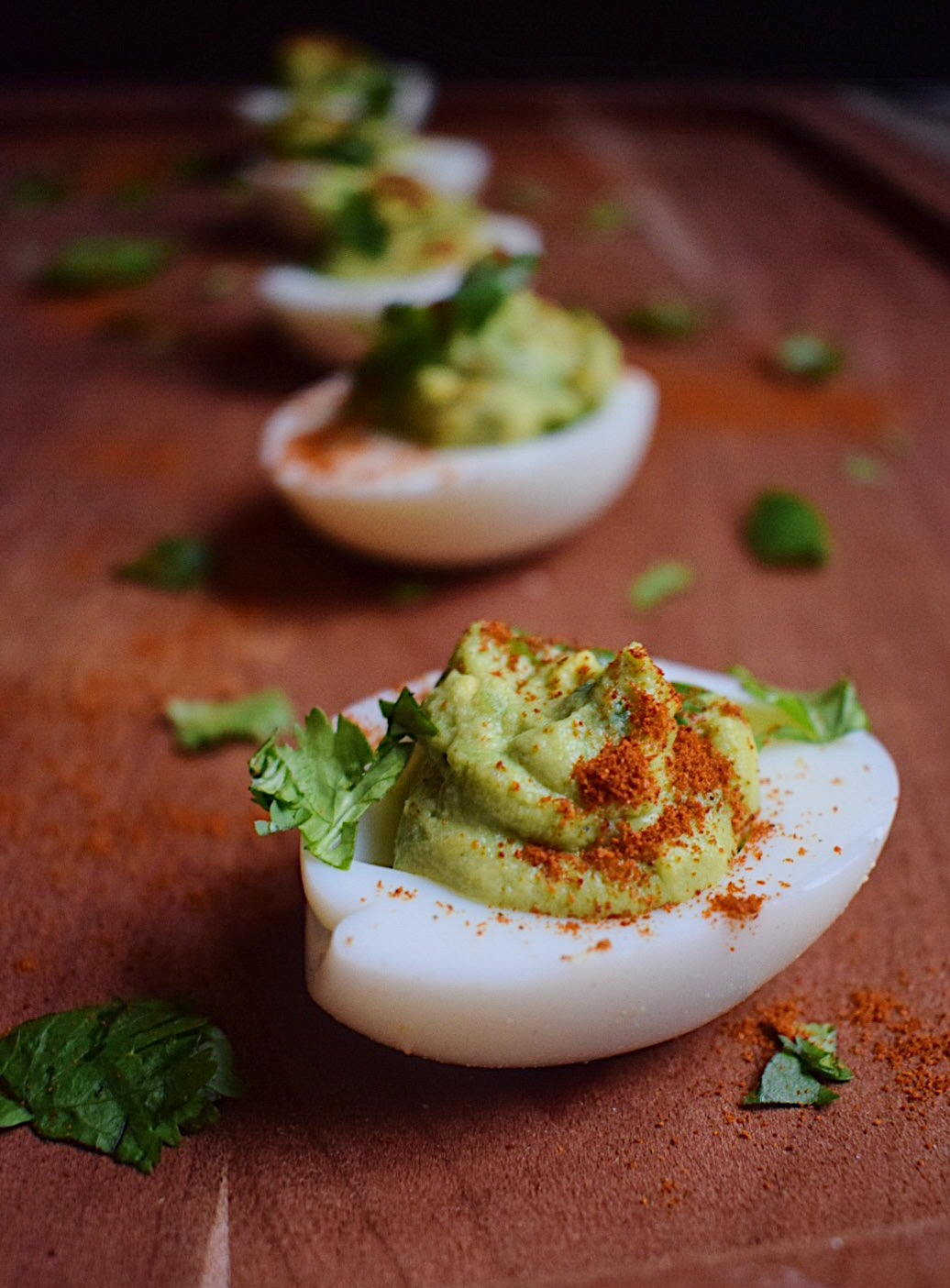 Light & Healthy Appetizer: Avocado Deviled Eggs