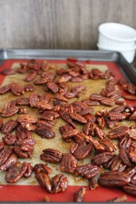Candied Pecans. These healthy, homemade pecans are divine! {Paleo, primal, dairy free, gluten free} | cravethegood.com
