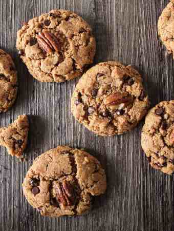 Chocolate Pecan Kamut Cookies. These cookies, made with healthy ancient grains will blow your socks off!  cravethegood.com
