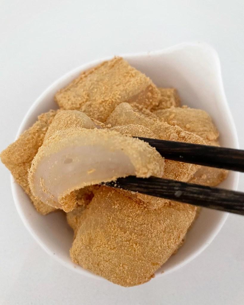 Warabimochi with Tapioca Flour