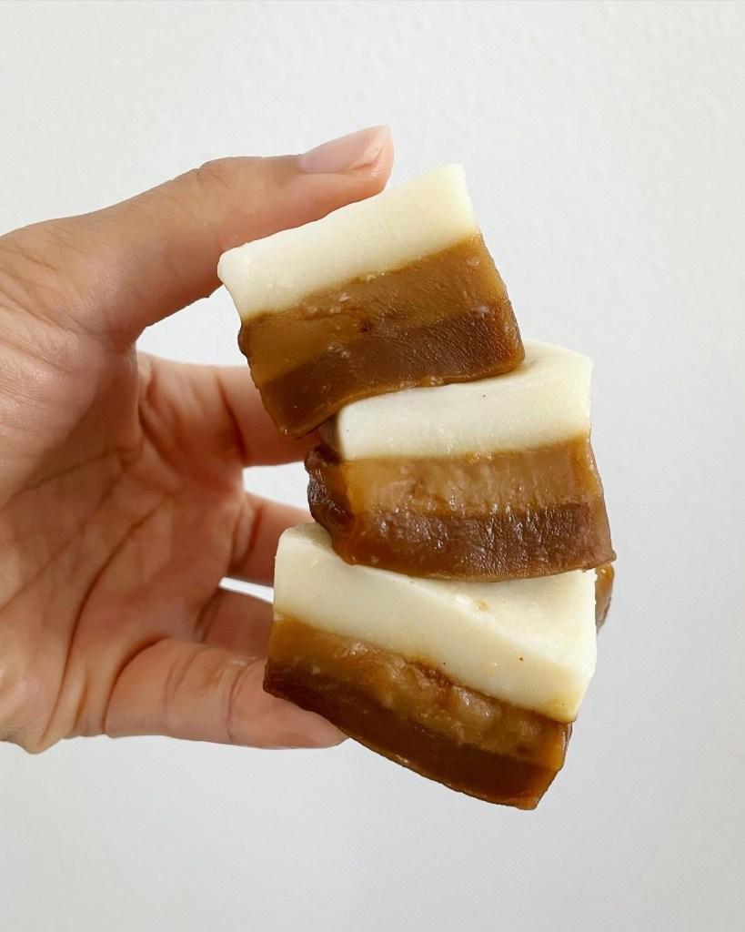 3 layer macchiato mochi