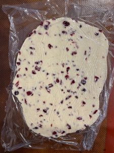 sourdough discard cranberry almond crackers