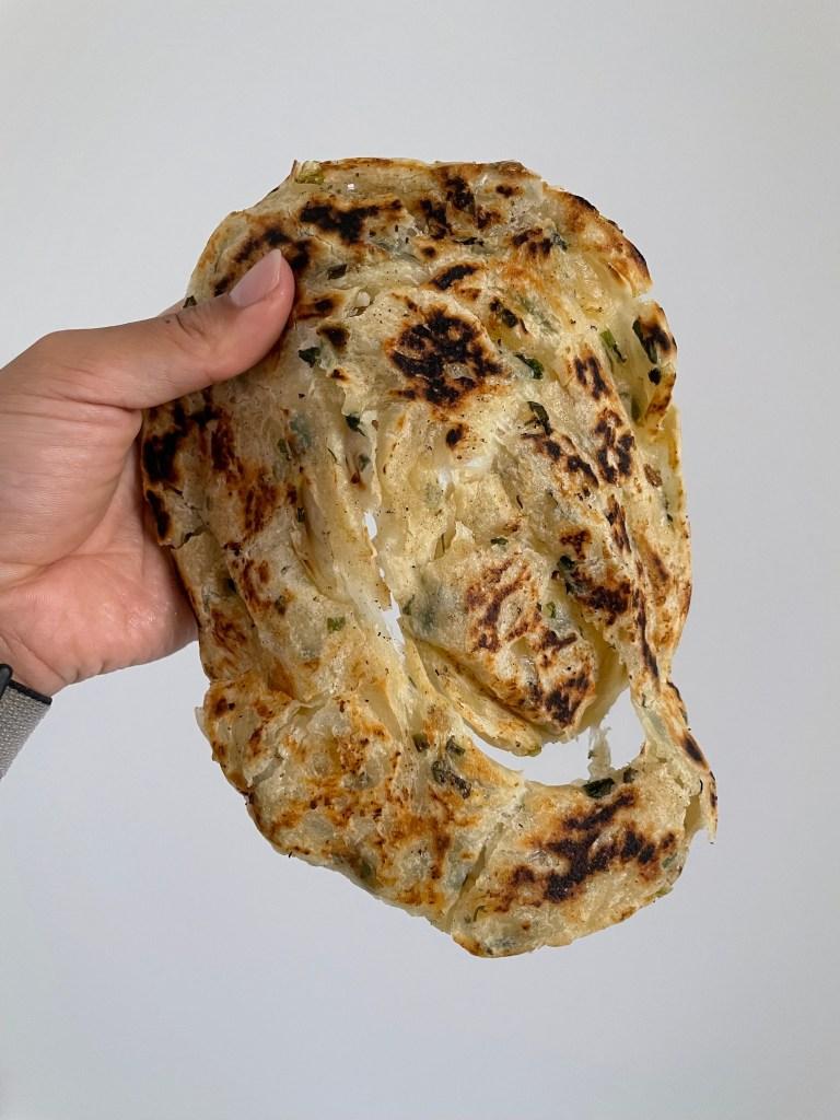 scallion ginger paratha